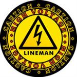 CAUTION! High Voltage Lineman Decal!