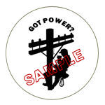 Got Power? Lineman Hard Hat Decal Stickers