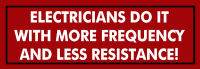 More Frequency and Less Resistance Bumper Sticker Decal