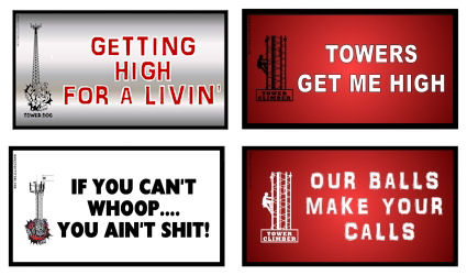 Tnt Your Choice Four Small Tower Climber Stickers