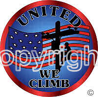 United We Climb Lineman Decal