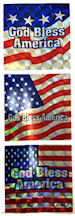 Set of 5 God Bless America FLAG Metallic Hardhat Decals