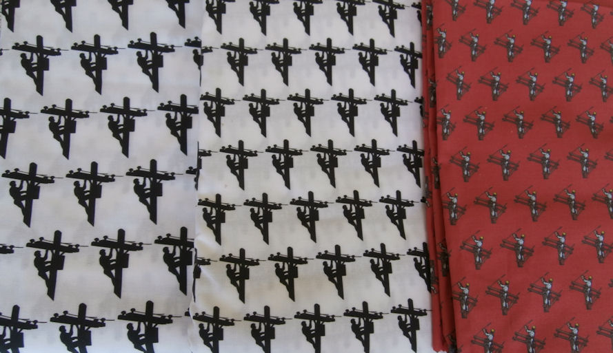 Tnt Lineman Fabric Material For Quilts Craft Projects