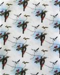 Celebrate the Season  Fabric Material - Electrical Themed Christmas