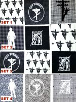 Lineman/Electrician B&W Fabric Quilting Material 3 pcs to a set