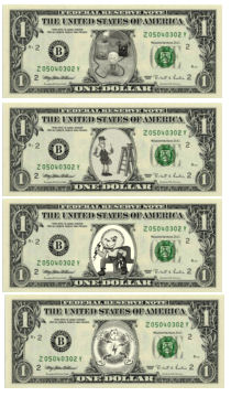 Fun Dollar bills for you to print -- FREEBIE