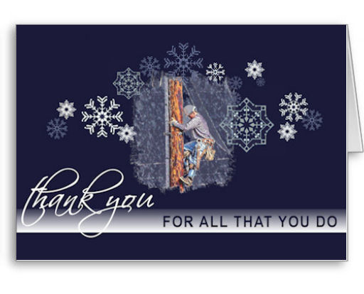 Thank a Lineman Holiday Greeting Cards. A thoughtway way to show your appreciation for a power lineman