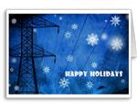Silent Night, Snowy Night Holiday Christmas Cards- Electrical Trades