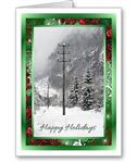 After the Storm Electric Utility Contractor Christmas Cards