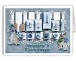 Electric Meters Holiday Greeting Cards-Electricians