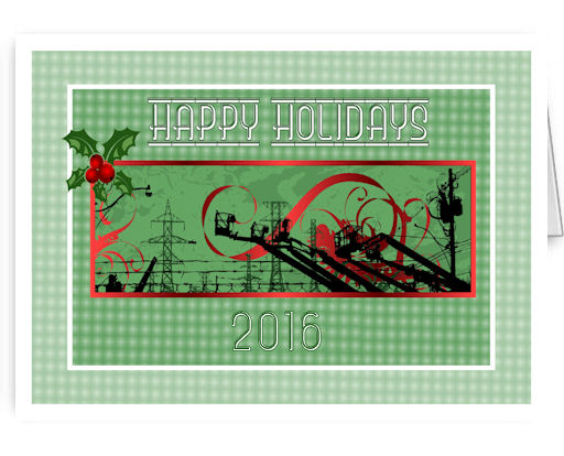 transmission lines Christmas cards