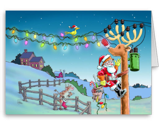 RUDY TRANSFORMED Electrical Trades Christmas Cards -  5x7