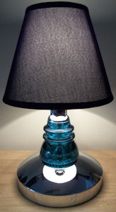 Stunning Hemingray Insulator Table  Lamp 17 inches Tall