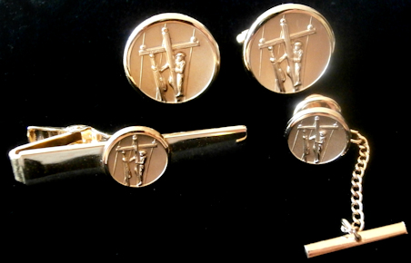 Linemans 14K Gold Plated Cufflinks & Accessories - Nice Gift