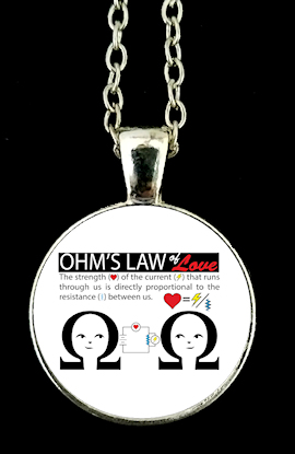 Pendant Ohms Law of Love - Gift for Ladies