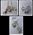 Light Bulb Jewelry & Key Ring for Electrician or Wife of an Electrician