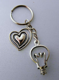 Key Chain with Charms for Office Staff / Female Sparky etc.
