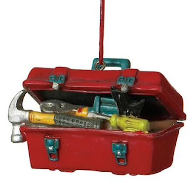 Electrician Contractor Tool Box Christmas Tree Ornament