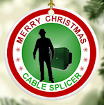 Cable Splicer (PERSONALIZE +$) Ceramic Christmas Ornament