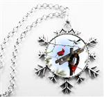 Electric Company Utility Snowflake CHOICE: Necklace or Ornament