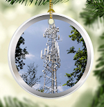 Cell Tower Ornament for Communications Tower Climbers Techs, etc.