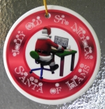 Santa of Hams Christmas Ornament - Cute!