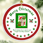 BEST WISHES Porcelain Christmas Ornaments - Electrical Trades