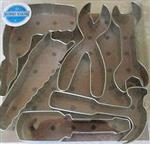 Cookie Cutters Set of Six Various Tools Electrician Construction