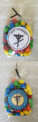 Cello Bags, twist ties and stickers - Party Favors - PACK OF SIX