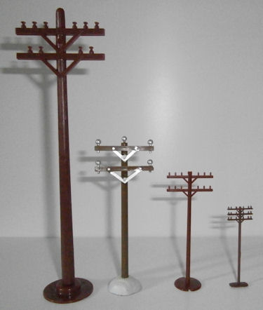 Assorted Plastic/Resin Telephone/Electric Poles - Your Choice