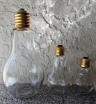 Glass Light Bulb Candy Jar Container - THREE Sizes!