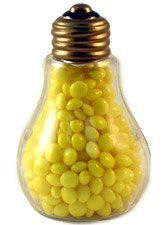 Plastic Light Bulb Jar Containers - Fillable Nice for kids!