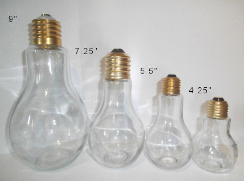 Tnt Lightbulb Candy Jars Three Sizes Available