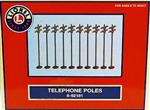 Set of 10 Telephone / Utility / Power Poles 7""