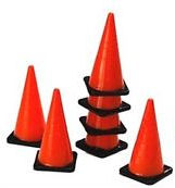 "1.25"" Miniature Traffic Cones - Toy Mini Construction Party Ideas"