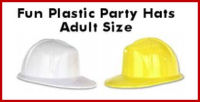 Adult / Child Plastic Construction Hats - FREE LOGO or TEXT and SHIPPING!