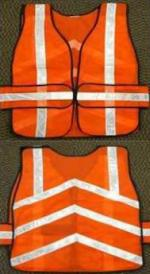 Orange Reflective Construction Safety Vests for your next party!