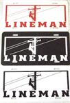 Lineman Metal License Plate - Three Color Options