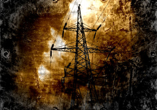 Grunge Style Transmission Line Print 11 x 17 or 8 x 10.