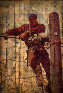 Norman Rockwell Revisioned Telephone Lineman Art Print