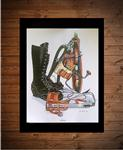 Power Lineman Tools Art Print Gift  - Colorized Large 16 x 20