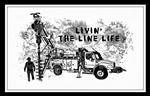 Livin' the Line Life Digger Operator Art Print Poster