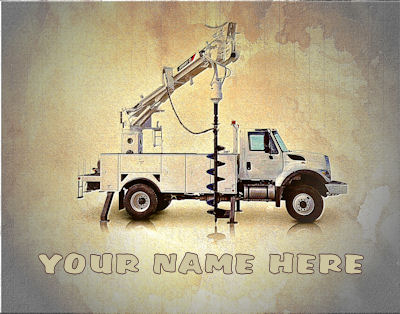 Personalized Digger Operator Art Print - Several Sizes