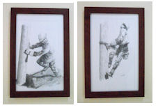 Set of Framed 11x17 Prints: Setting the Pole and Making the Climb