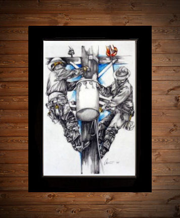 Tnt All In A Day S Work Art Print Electric Linemen