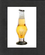 Bottle Lightbulb Print - Black Mat Included FREE w $75+ order