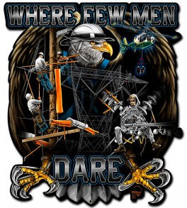 Where Few Men Dare Transmission Lineman Sign Gift
