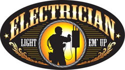 Electrician Tow Hitch Cover - Light Em Up!