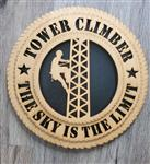 Tower Climber Wall Art Plaque - Laser Cut CUSTOM ALSO
