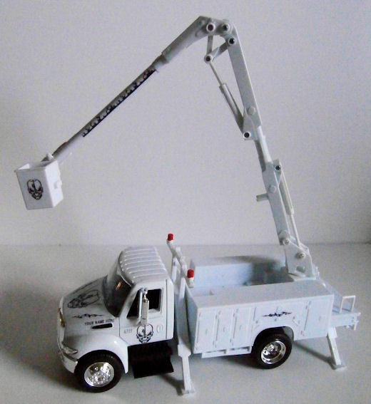 Tnt Lineman Skull Toy Utility Trucks Bucket Digger Amp Pickup